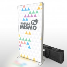 Totem textil transportable led