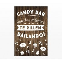 Cartel Boda Candy Bar